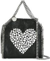 Stella McCartney crystal heart mini Falabella tote - women - Polyester - One Size