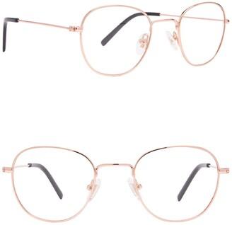 Diff Eyewear Sage 46mm Round Blue Light Blocking Glasses