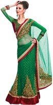 Simaaya Fashions Pvt Ltd Indian Etnic Bollywood Wedding Net Green Designer Lehenga Sarees