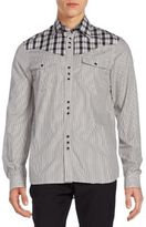 Diesel Plaid & Stripe Western Shirt