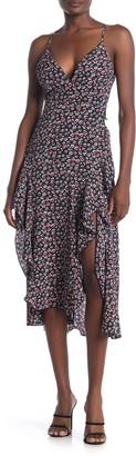 Love, Nickie Lew Floral Print High/Low Plunge Dress