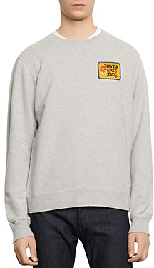 Sandro Have a Nice Day Embroidered Sweatshirt