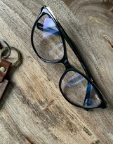 Thumbnail for your product : Quay Please Advise womens blue light cat eye glasses in black