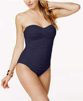 Anne Cole Twist-Front Bandeau One-Piece Swimsuit Women's Swimsuit