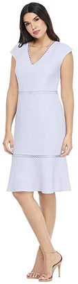 Maggy London Flounced Hem Midi Dress (Lavender) Women's Dress