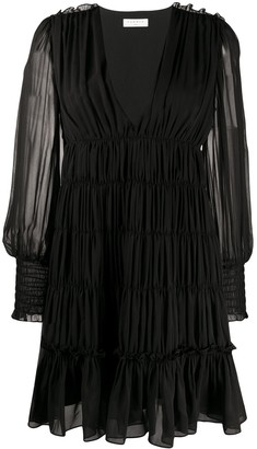 Sandro Paris Voile Ruffled Mini Dress