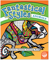Fantastical Styles: Animals Coloring Book