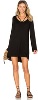 Michael Lauren Bailor Cut Out Neck Dress