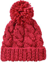 Joe Fresh Women's Cable Knit Hat, Red (Size O/S)