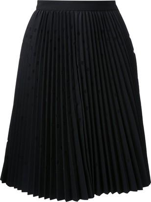 MSGM Dot-Pattern Pleated Skirt