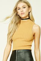 Forever 21 Ribbed Cropped Top