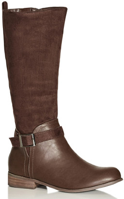 City Chic Micah Knee Boot - chocolate
