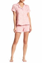 BedHead Floral Lace Short Sleeve PJ 2-Piece Set