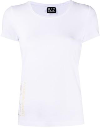 EA7 Emporio Armani logo-print crew neck T-Shirt