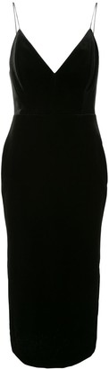 Alex Perry Velvet-Effect Fitted Dress