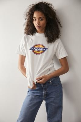 Dickies White Horseshoe Logo T-shirt - White XS at Urban Outfitters