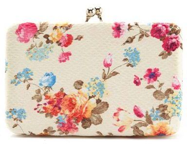 Charlotte Russe Garden Floral Box Wallet