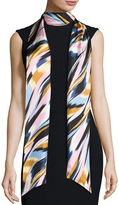 Missoni Silk Satin Skinny Maxi Tie Scarf