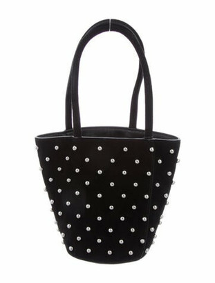 Alexander Wang Suede Roxy Bucket Bag Black