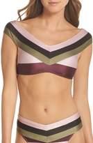 Ted Baker Imperial Stripe Bardot Bikini Top