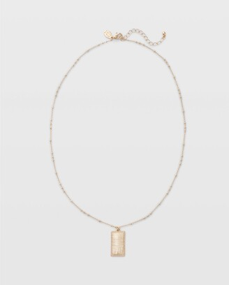 Club Monaco Long Rectangle Necklace