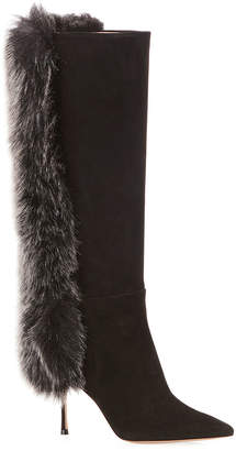 Marion Parke McVie Knee Boots with Faux-Fur Trim