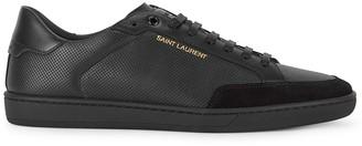 Saint Laurent Classic Court black leather sneakers