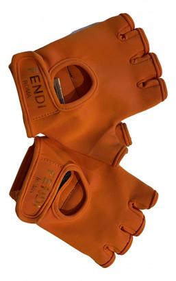 Fendi Orange Polyester Gloves