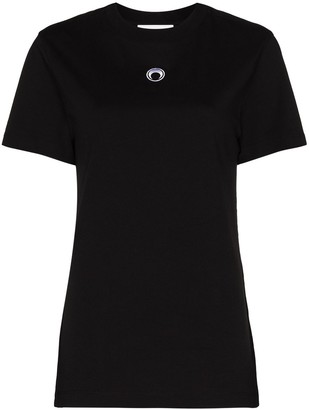 Marine Serre Crescent Moon logo-embroidered T-shirt