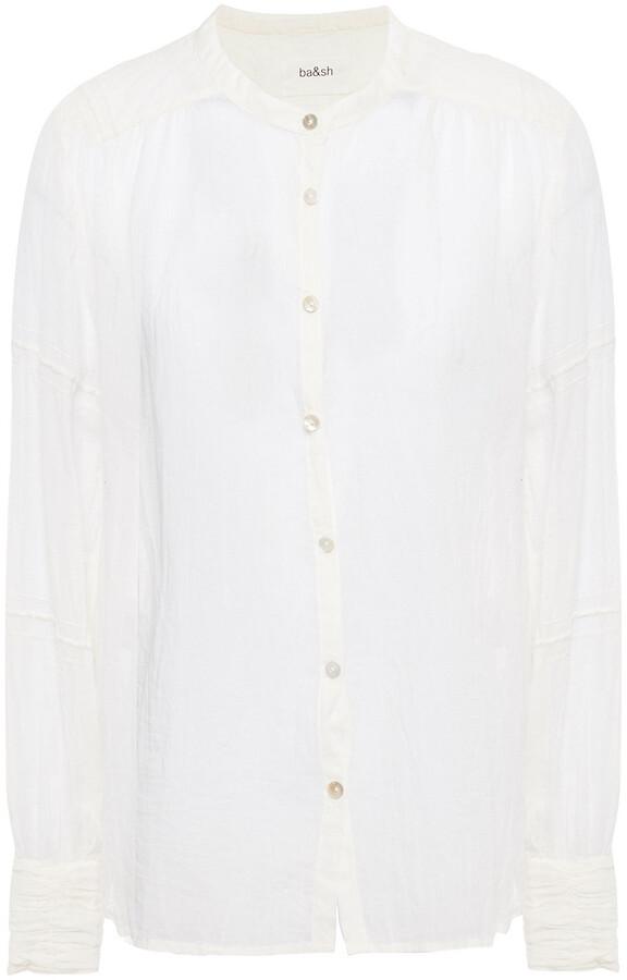 Thumbnail for your product : BA&SH Samy Crinkled Cotton-gauzes Shirt