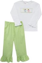 Green Fairies Tee & Ruffle Pants - Infant & Girls