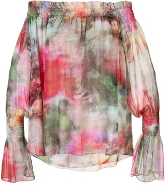 ADAM by Adam Lippes floral print off-shoulder top