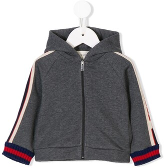 Gucci Kids full-zipped hooded jacket