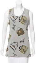 Dolce & Gabbana Purse Print Sleeveless T-Shirt