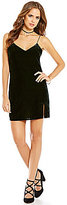 Gianni Bini Nate V-Neck Sleeveless Velvet Slip Dress