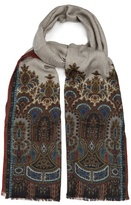 Etro Paisley-jacquard Cashmere And Silk-blend Scarf