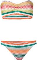 Missoni zig zag bandeau bikini - women - Rayon/Nylon/Spandex/Elastane - 40