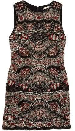 Alice + Olivia Alice+olivia Sherley Embellished Silk-Chiffon Mini Dress
