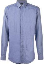 Lanvin contrast checked panel shirt - men - Cotton - 41