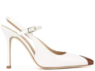 Alessandra Rich two-tone slingback pumps