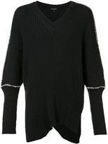 Ann Demeulemeester Tuareg V neck jumper - men - Cotton/Cashmere - S