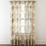 Liz Claiborne Lisette Floral Rod-Pocket Sheer Curtain Panel