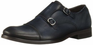 Marc Joseph New York Men's Genuine Leather Luxury Gold Collection Double Monk Dress Shoe Loafer