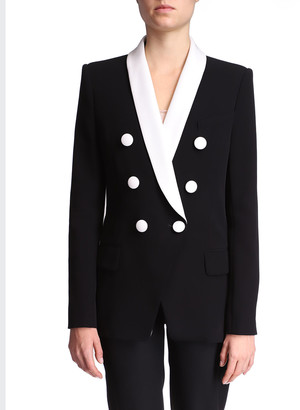 Balmain Shawl-Collar Double-Breasted Jacket