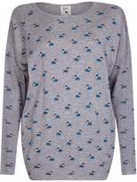 Yumi Drop Shoulder Sausage Dog Printed Jumper