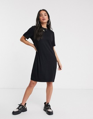 Monki mini t-shirt dress in black