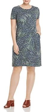 Nic+Zoe Plus Leaf Print Sheath Dress
