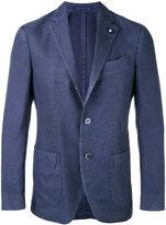 Lardini notched lapel blazer - men - Silk/Polyester/Cashmere/Wool - 52
