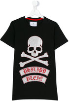 Philipp Plein skull & crossbones T-shirt - kids - Cotton - 14 yrs