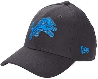 New Era NFL Stretch Fit Graphite 3930 -- Detriot Lions (Graphite) Baseball Caps